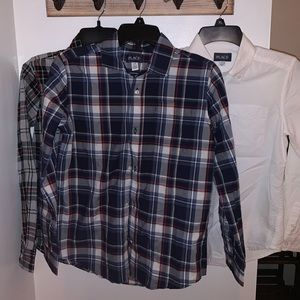 NWOT: Children's Place Button Up Plaid Shirt